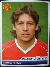 Panini 59 Gabriel Heinze Manchester United UEFA CL 2006/07