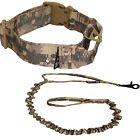 Set of Tactical Dog Collar + Leash Handle Military Training Medium Large M- XXL