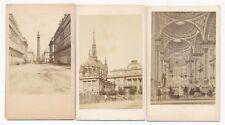 Three Historical Views of Paris Ledot Jeune, Lestrade & Pattou and Collin 1860's
