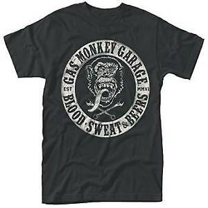 Gas Monkey Garage - Blood, Sweat & Beers T-Shirt Unisex Tg. L PHM