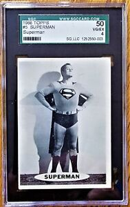 "SUPERMAN TOPPS CARD #5 (1966) ""SUPERMAN""  SGC GRADE: 50 VG/EX"