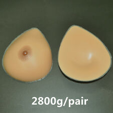 2800g/pair Fake Breast Forms Silicone GG Cup Crossdresser Mastectomy Prosthesis