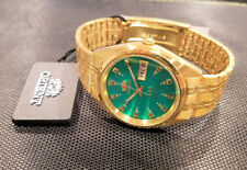 Orient Classic Dress Watch Automatic Gold Tone Green Dial Watch FREE US SHIP