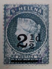 1884-94 St Helena 1/2d Deep Green and 2 1/2d Ultramarine Stamps (2)