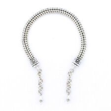 """Silver V-Mesh 7.5"""" Tabra Connector Anklet Chain"""