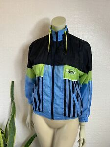 Hi-Tec Vintage 1980's Shell Suit Top Ladies Small / Medium