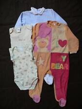 vêtements bébé/fille/garçon - lot de 2 bodies + 2 pyjamas à pieds taille 18 mois