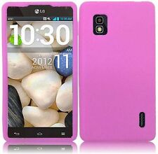 AT&T LG Optimus G E970 Rubber SILICONE Soft Gel Skin Case Phone Cover Baby Pink