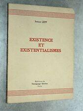 Ignace Lepp EXISTENCE ET EXISTENTIALISMES Éd. Témoignage Chrétien 1947 SARTRE
