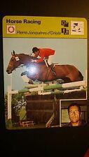 1977 Sportscaster Card Horse Racing PIERRE JONQUERES d'ORIOLA , VERY GOOD