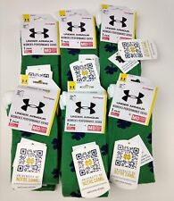 Lot of 6 Under Armour Notre Dame Heat Gear Performance Socks Women's M/ Medium