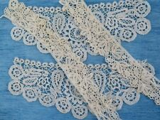 More details for a pair of antique brussels duchesse lace cuffs & a honiton lace pair