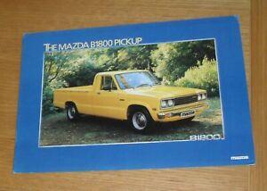 Mazda B1800 Pick Up Brochure 1981