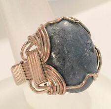Handmade Gem Cabochon SF Wire Wrapped  Ring Size 10