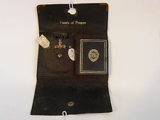 Antique WWII Soldier pocket pearls of prayer protection shrine rosary medal book