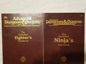 The Complete Ninja's Handbook and Fighter's Handbook AD&D Dungeons & Dragons