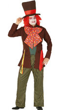 Mens Mad Hatter Costume Adults Fairytale Alice Fancy Dress Outfit M + L NEW