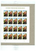 USPS Sealed. Father Theodore Hesburgh. Notre Dame. Sheet of 20 Forever Stamps.