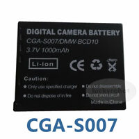 Replacement Battery For PANASONIC DMW-BCD10 CGA-S007 Lumix DMC-TZ1 DMC-TZ1EG-K