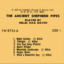 Hillel Raveh - The Ancient Shepherd Pipes [New CD]