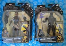 Marvel Avengers Set Vibranium Black Panther And Shuri 6 Inch Action Figures New
