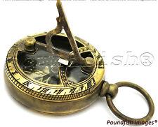 Brass Compass & Sundial - London Pocket Sundial Compass