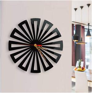 Wall Clock Modern Australian Made Wooden Concentric Triangle Art Round Design