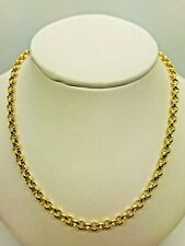 9ct Yellow Solid Gold Round Belcher Chain - 4.0mm - 18""
