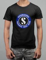 New Scubapro Scuba Equipment Logo Black Men's T-Shirt Size S-5XL