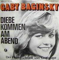 """Gaby Baginsky - Diebe Kommen Am Abend / Der Plattenschr 7"""" Vinyl Schallpla 42403"""