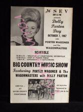 >Original/MEGA-RARE 1967 DOLLY PARTON CONCERT POSTER with Porter Wagoner!!!