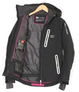 HELLY HANSEN TECH PERFORMANCE FITTED RECCO Black Ski Jacket Women Size XS MJ2638