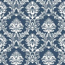 CS35600 - Classic Silks 3 Damask Blue White Galerie Wallpaper