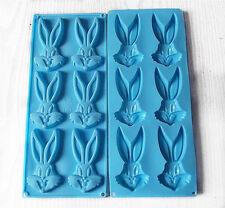 1 Pc Bugs Bunny Fondant Chocolate Clay Jelly Soap Silicon Silicone Mold Molder