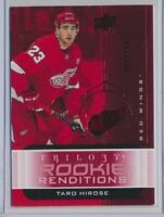 2019-20 Trilogy Rookie Renditions RR-33 Taro Hirose /799 Detroit Red Wings