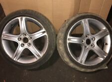 99-05 LEXUS is200 is300 PAIR alloy wheels R17 + 215 45 17 tyres needs chamging
