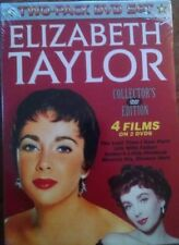 ELIZABETH TAYLOR TWO-PACK DVD SET/ 4 FILMS ON 2 DVD'S/ NEW AND SEALED