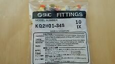 """(10) SMC One Touch fittings KQ2H01-34S 1/8"""" tubing x 1/8"""" NPT male threads"""