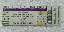 Rare Zz Top 3/18/2007 Houston Tx Rodeo Concert Ticket Stub