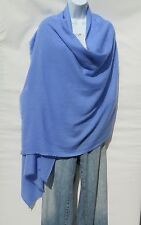 100% Himalayan Cashmere Shawl/Scarf Lightweight Hand Loomed in Nepal Light Blue