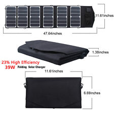 39W Dual USB DC/USB Output Folding Solar Panel Charger Battery For Cellphone