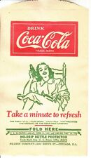 1946 COCA-COLA DRI SERVER OR NO DRIP NOS  MINT   LADY IN ROCKING CHAIR  #1