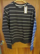 NWT COTTON ON FERGUSON GRAPHIC CREW SWEATER SIZE S GRAY/CREAM