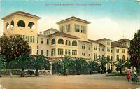 DB Postcard CA H257 Casa Loma Hotel Redlands Street View Palms Women Pepper Tree