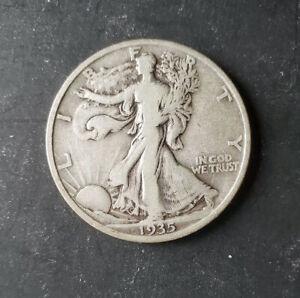 (1) Walking Liberty Half Dollar - 1935-P - 90% Silver - Fine