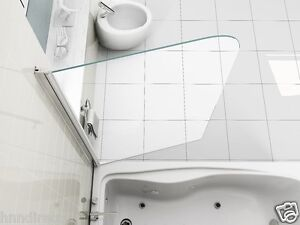 SIMPLE LUXURY 6mm CLEAR GLASS OVER BATH SHOWER SCREEN DOOR SHOWER SEAL INCLUDED