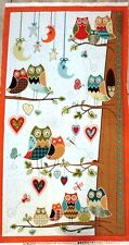 OWL WONDERFUL HOOT OWL FABRIC BY SOUTH SEAS CHILDS GROW CHART BTP NEW