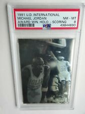 PSA 9 1991 UD UPPERDECK INTERNATIONAL AWARD WINNING HOLO SCORIN  MICHAEL JORDAN