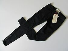 Current/Elliott The Ankle SKINNY Zip in Black Beauty Paisley Stretch Jean 23