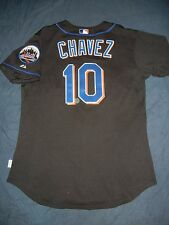 GAME USED WORN Majestic ENDY CHAVEZ NEW YORK METS Jersey 06 NLCS Delgado Piazza